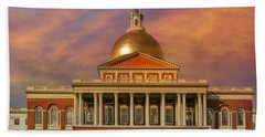 Massachusetts State House Beach Towel