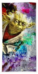 Master Yoda Beach Towel by Daniel Janda