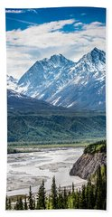 Matanuska River  Beach Sheet by Andrew Matwijec
