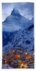 Matterhorn At Twilight Beach Towel