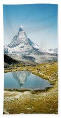 Matterhorn Cervin Reflection Beach Towel