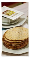 Matza And Haggada For Pesach Beach Towel