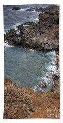 Beach Towel featuring the photograph Maui Cliff by Bryan Keil