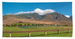 Maui Hawaii Mountains Near Kaanapali   Beach Towel
