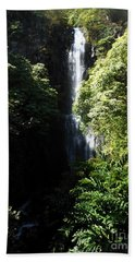 Maui Waterfall Beach Towel by Fred Wilson