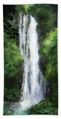 Maui Waterfall Beach Towel by Susan Kinney