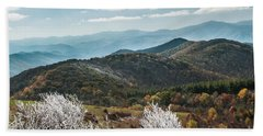 Beach Towel featuring the photograph Max Patch In Appalachian Mountains by Debbie Green