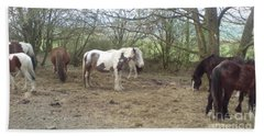 May Hill Ponies 1 Beach Towel by John Williams