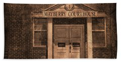 Mayberry Courthouse Beach Towel
