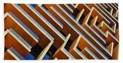 Maze Building Dubai Beach Towel