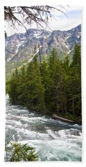 Mcdonald Creek In Glacier Np-mt Beach Sheet