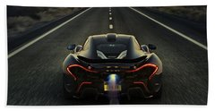 Mclaren P1 2014 Beach Sheet by Movie Poster Prints