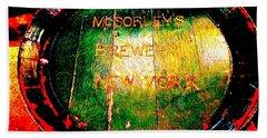 Mcsorleys Brewery Beach Towel by Ed Weidman