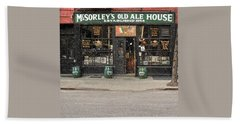 Mcsorley's Old Ale House Beach Sheet by Doc Braham