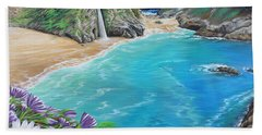 Beach Towel featuring the painting Mcway Falls by Jane Girardot