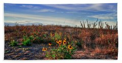 Beach Sheet featuring the photograph Meadow Of Wild Flowers by Eti Reid