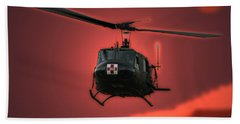 Medevac The Sound Of Hope Beach Sheet by Thomas Woolworth