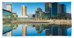 Media City At Salford Quays, Greater Beach Towel