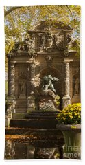 Medici Fountain - Paris Beach Towel by Brian Jannsen