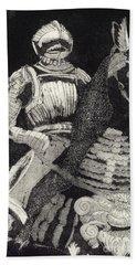 Medieval Knight On Horseback - Chevalier - Caballero - Cavaleiro - Fidalgo - Riddare -ridder -ritter Beach Sheet