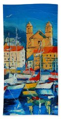 Mediterranean Harbor Beach Towel