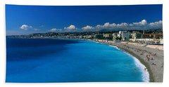 Mediterranean Sea French Riviera Nice Beach Towel