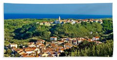Mediterranean Town Of Susak Croatia Beach Sheet