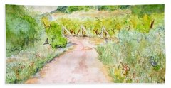 Medjugorje Path To Apparition Hill Beach Sheet by Vicki  Housel