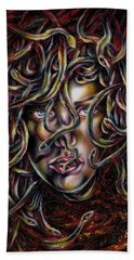 Beach Towel featuring the painting Medusa No. Three by Hiroko Sakai