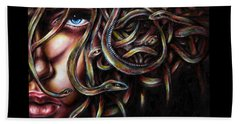 Beach Towel featuring the painting Medusa No. Two by Hiroko Sakai