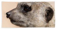 Meerkat Mug Shot Beach Towel