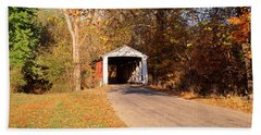 Melcher Covered Bridge Parke Co In Usa Beach Towel