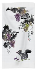 Melody Of Life II Beach Towel by Yufeng Wang