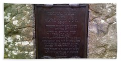Memorial Tablet To Signal Corps U.s.a. Beach Towel by Amazing Photographs AKA Christian Wilson