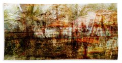 Beach Towel featuring the mixed media Memories #1 by Sandy MacGowan