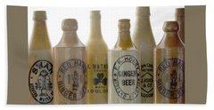 Memories In A Bottle Beach Sheet by Holly Kempe