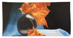 Memories Of Fall - Oil Painting Beach Sheet