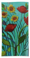 Memories Of The Meadow Beach Towel by Mary Wolf