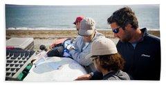 Men Prepare For An Outdoor Adventure Beach Towel