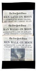 Men Walk On The Moon Beach Sheet