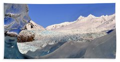 Beach Towel featuring the photograph Mendenhall Glacier Refraction by Cathy Mahnke