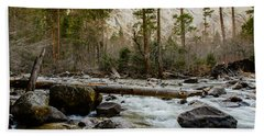 Merced River From Happy Isles 2 Beach Towel