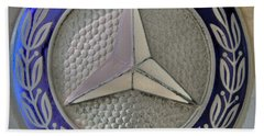 Mercedes Benz Badge Blue Beach Towel