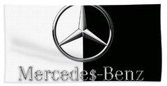 Mercedes-benz Logo Beach Sheet