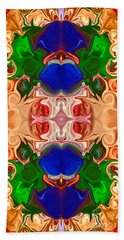 Beach Towel featuring the digital art Merging Consciousness With Abstract Artwork By Omaste Witkowski  by Omaste Witkowski
