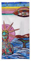 Yemoja Ufo  Beach Sheet by Stormm Bradshaw