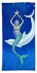 Mermaids- Dolphin Moon Mermaid Beach Sheet