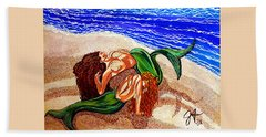 Beach Towel featuring the painting Mermaids Spent Jackie Carpenter by Jackie Carpenter