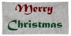 Merry Christmas Beach Towel by Aimee L Maher Photography and Art Visit ALMGallerydotcom