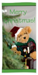 Merry Christmas Bear 0722 Beach Towel
